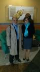 Prof. André Grelon a M. Efmertová při presentaci Zlaté buly sicilské_NA2012