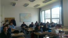 Studenti a doktorandi na přednášce z Historie techniky prof. Y. Bettahar